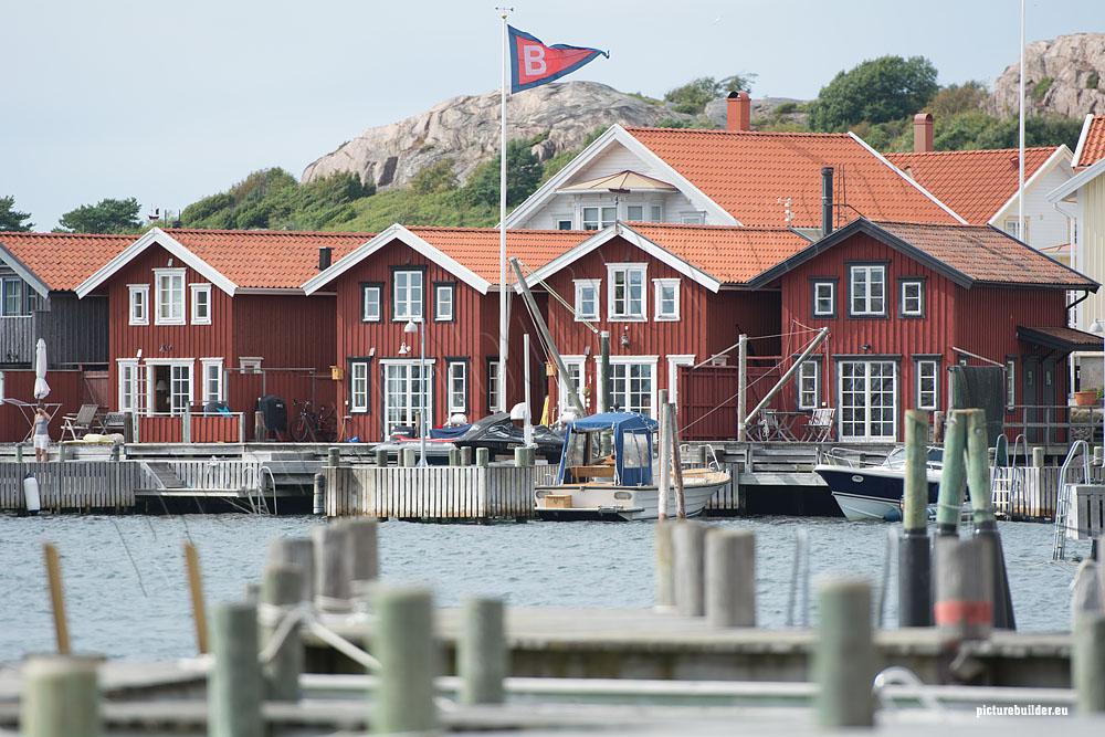 Falunrote Häuser in Schweden