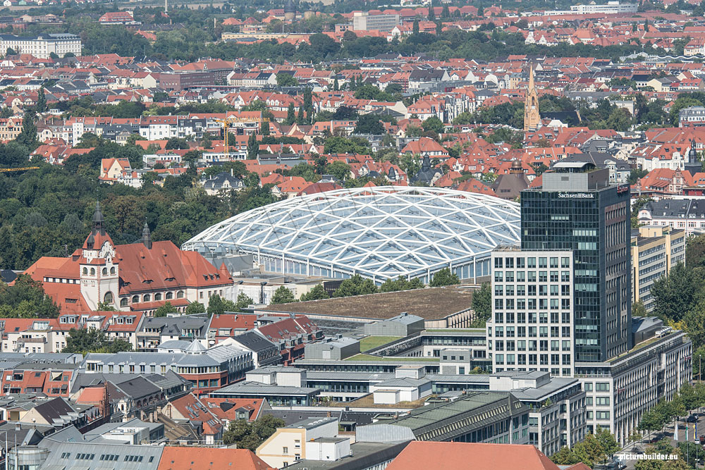 Über den Dächern von Leipzig