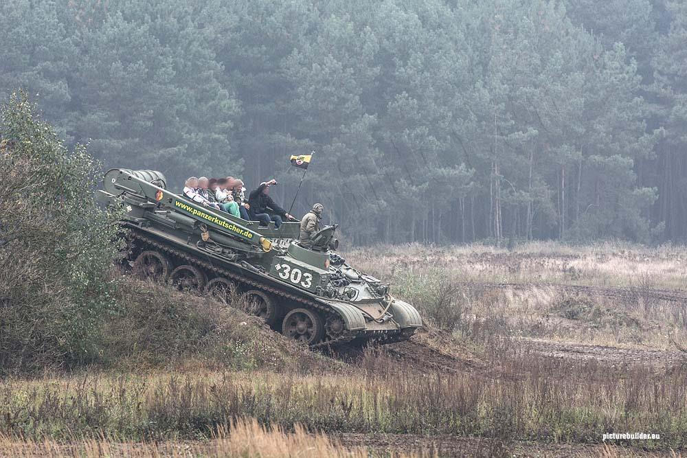 Panzer fahren beim Panzerkutscher