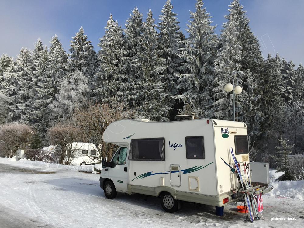 Wintercamping in Fichtelberg