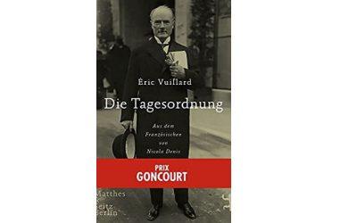 "Eric Vuillard ""Die Tagesordnung"""